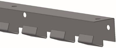 Lamelová lišta pro zavěšení lamel WELDO zPVC se nabízí vzákladní délce 1968 mm